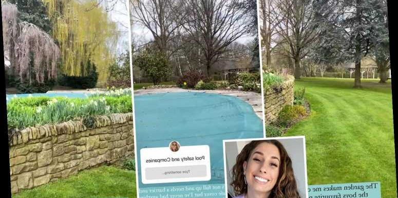 Stacey Solomon gives a tour of her huge garden and swimming pool after moving into £1.2m Essex home
