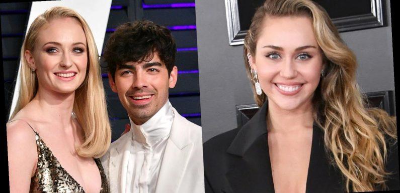 Miley Cyrus Sends Huge 'Hannah Montana' Flower Arrangement to Joe Jonas & Sophie Turner!