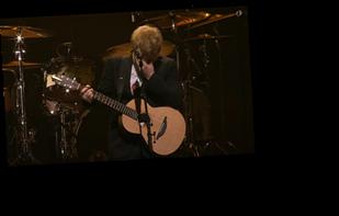 Ed Sheeran breaks down in tears performing new song about baby daughter Lyra at friend Michael Gudinski's funeral