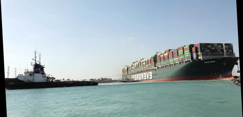 Massive ship Ever Given 're-floated' after being stuck in Suez Canal for six days