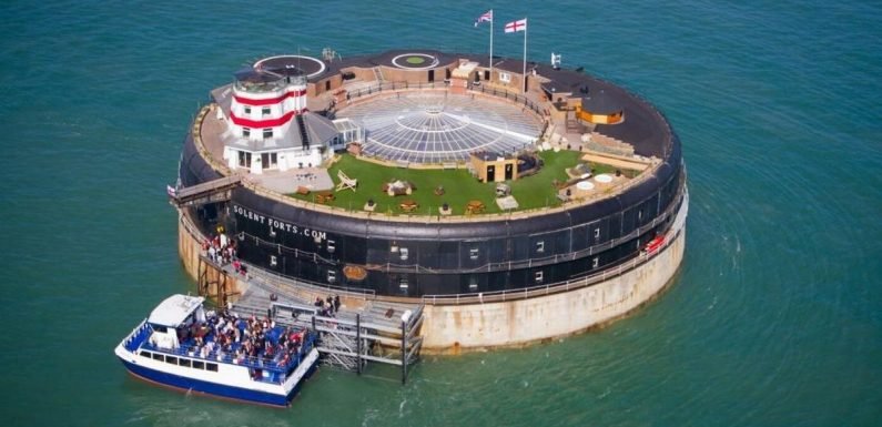 Inside military sea fort transformed into 23-bed party house with own pub