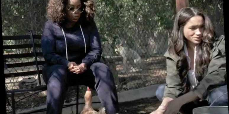 Meghan Markle Wore a $60 Jacket to Give Oprah a Tour of Her Chicken Coop — and It's Still in Stock
