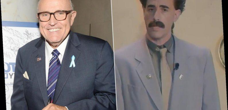 Sacha Baron Cohen Roasts 'All-White' HFPA and Rudy Giuliani as Borat 2 Wins at Golden Globes