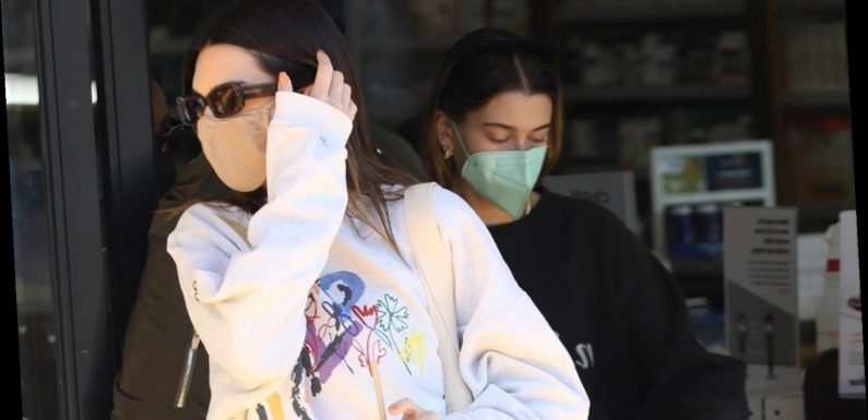 Kendall Jenner & Hailey Bieber Juice Up After Their Friday Morning Workout