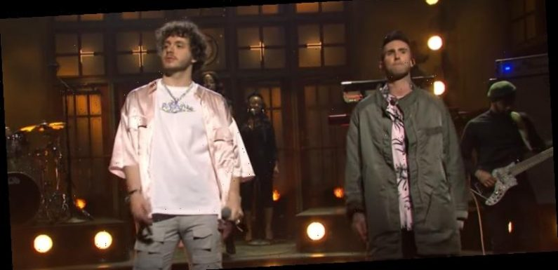 Adam Levine Joins Jack Harlow on 'Saturday Night Live' Stage for 'Same Guy' Performance – Watch!