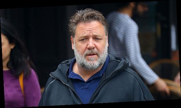 Russell Crowe, 56, Looks Nearly Unrecognizable With Beard While Playing Tennis With GF
