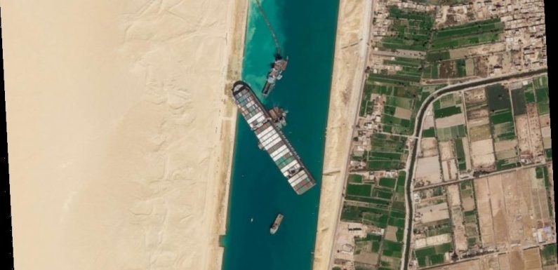 Engineers start to refloat ship stuck in Egypt's Suez Canal