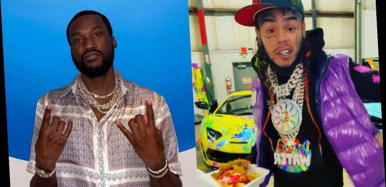 6ix9ine Challenges Meek Mill to 1 on 1 Fight After Nightclub Confrontation