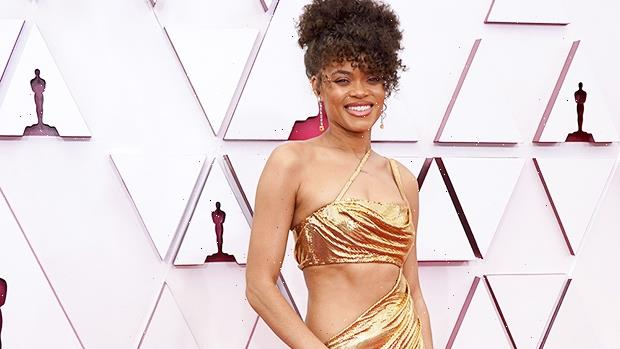 Andra Day Is A Golden Goddess In Gorgeous Cutout Gown At The Oscars