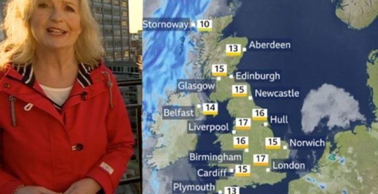 BBC Weather: Carol Kirkwood forecasts mini heatwave today before cold front moves in