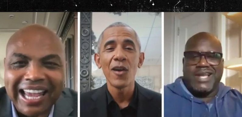 Barack Obama Heckles Charles Barkley For Being Fat and Gambling, Pushes COVID Vaccine