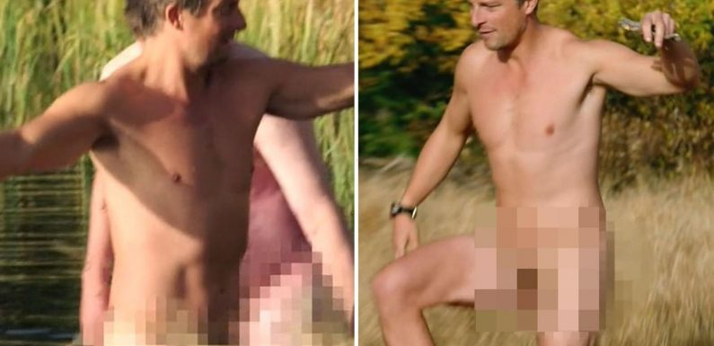 Bear Grylls strips completely naked for chilly dip on survival show Running Wild