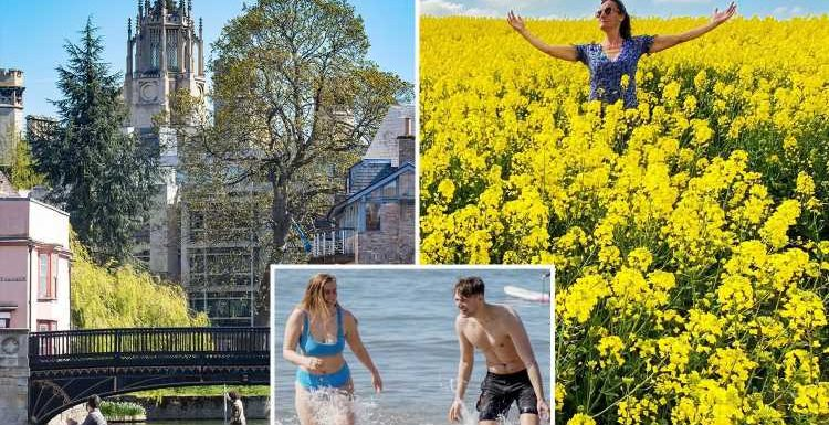 Brits bask in 18C sunshine today – and it's going to get even HOTTER this weekend