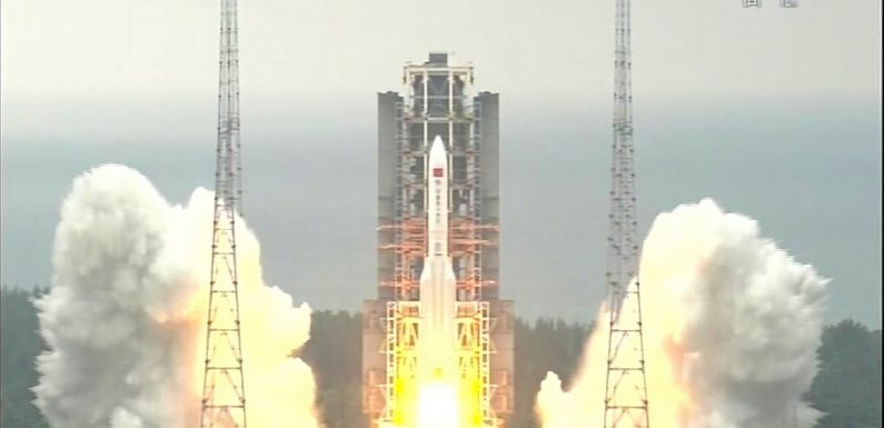 China launches main part of its 1st permanent space station