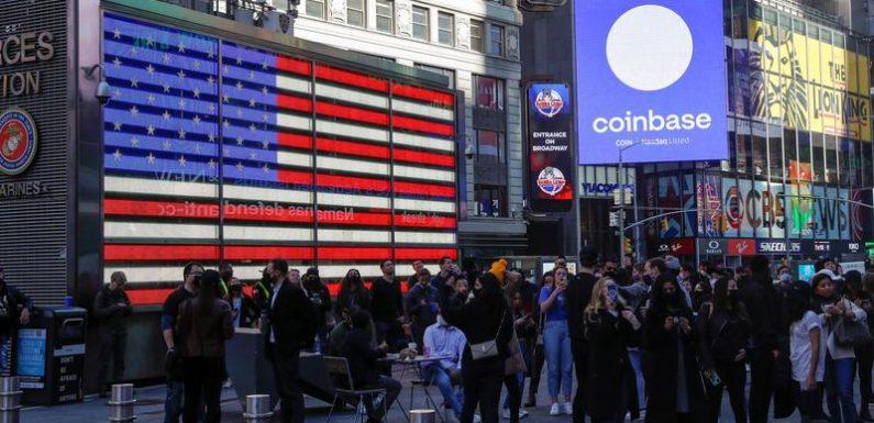 Coinbase valued at $83 billion in choppy Nasdaq debut