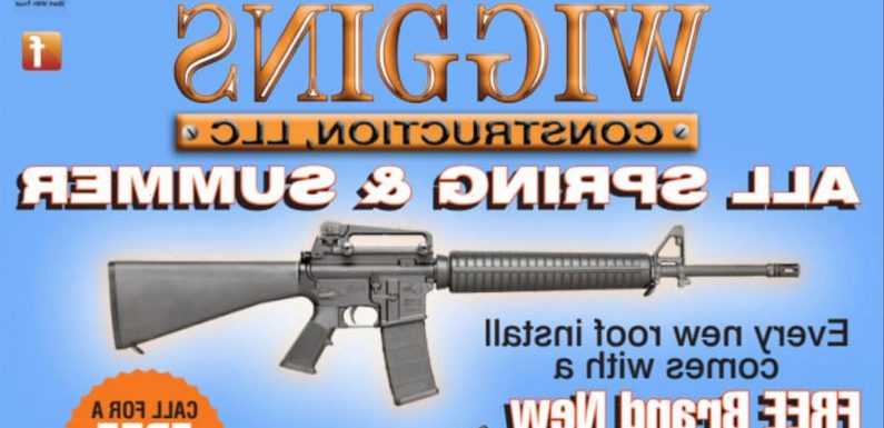 Construction company is offering free AR-15 rifles to customers who buy a roof installation sparking business surge