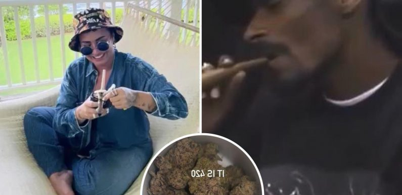 Demi Lovato, Snoop Dogg and more stars celebrate 420 by smoking & posting funny weed memes