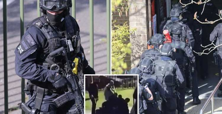 Dramatic audio of armed cops storming Crawley College after gunman 'opened fire' as students made 'final' calls to mum