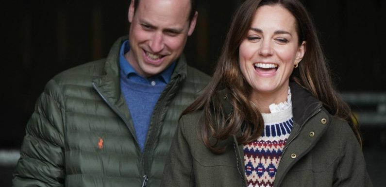 Duchess Kate & William visited a farm, played on a tractor & met some sheep