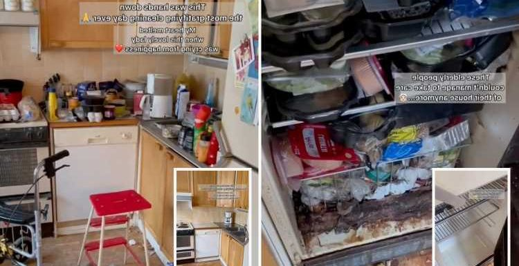 Elderly couple who aren't able to clean their house anymore cry after kind-hearted woman transforms it for them for FREE
