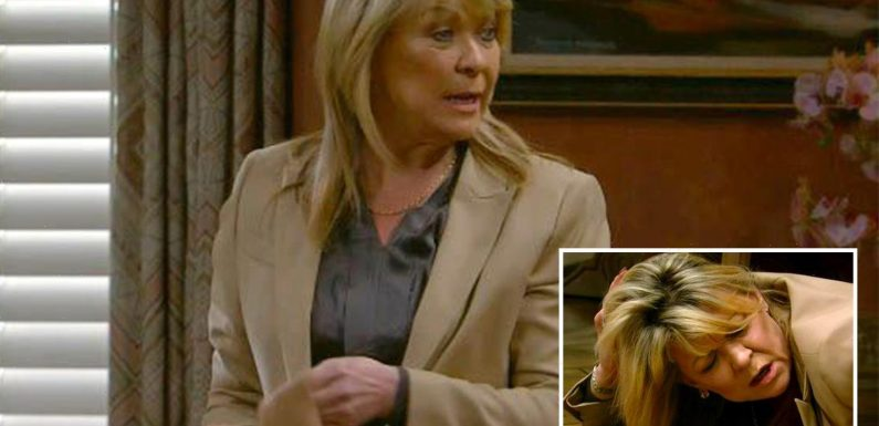 Emmerdale fans convinced Kim Tate, 62, is pregnant against all odds after dramatic collapse