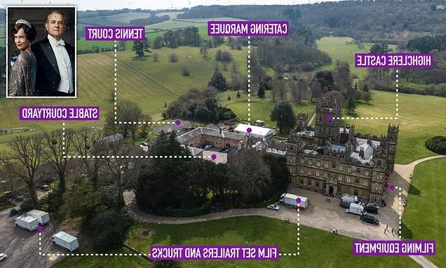 First look at set as filming for Downton Abbey sequel gets underway