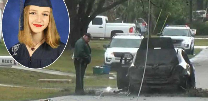 Florida teen electrocuted after fleeing burning car during storm
