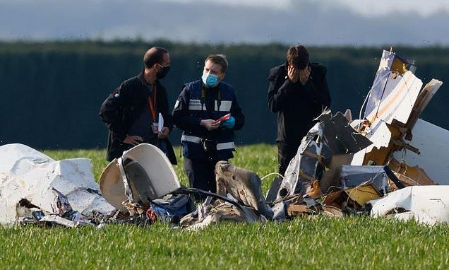 Four people die after light plane crashes into a field