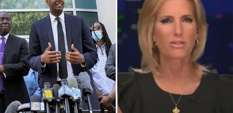 Fox host Laura Ingraham accuses Andrew Brown Jr's family attorney Bakari Sellers of 'faking his accent'