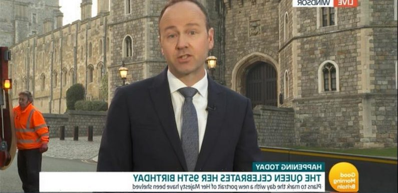 GMB reporter cringes as Queen's birthday tribute is interrupted by bin lorry