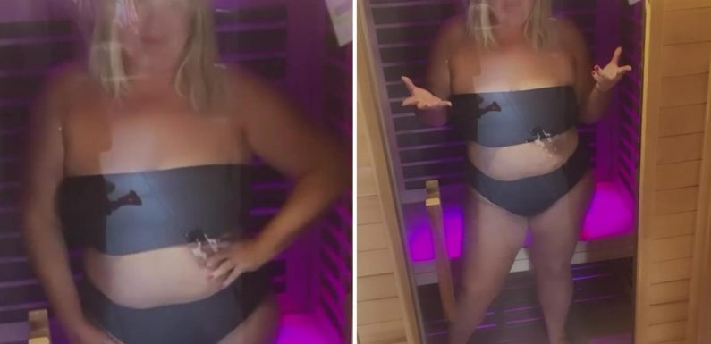 Gemma Collins reveals new £4k sauna in £1.3m Essex home as she strips down to a bikini to show off 3 stone weight loss