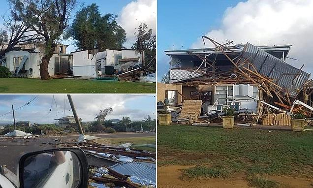 Horrific images after a tropical cyclone in Western Australia