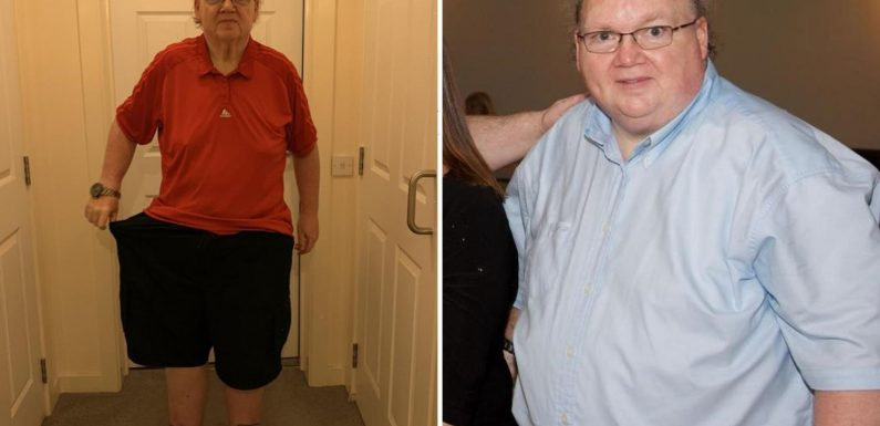I shed 14-stone in lockdown by walking 14 miles a day around my LIVING ROOM – I've never looked better