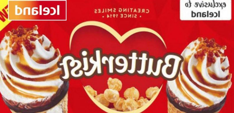 Iceland launches new Butterkist toffee popcorn ice creams