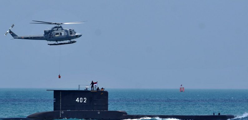 Indonesia: Hope fades in search for missing submarine and crew as oxygen is thought to have run out