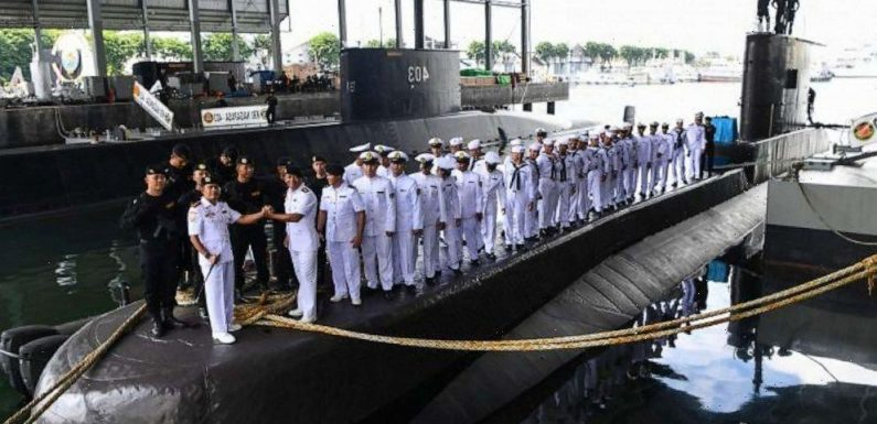 Indonesia's navy searching for 53 people on board a missing submarine