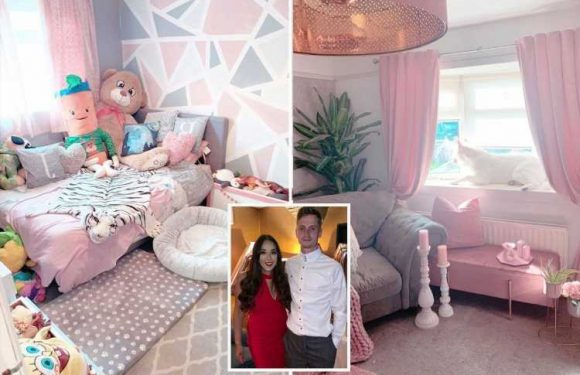 I've spent £10k turning my Sunderland semi into a rose palace – my man loves it & the dogs even have pink bedrooms