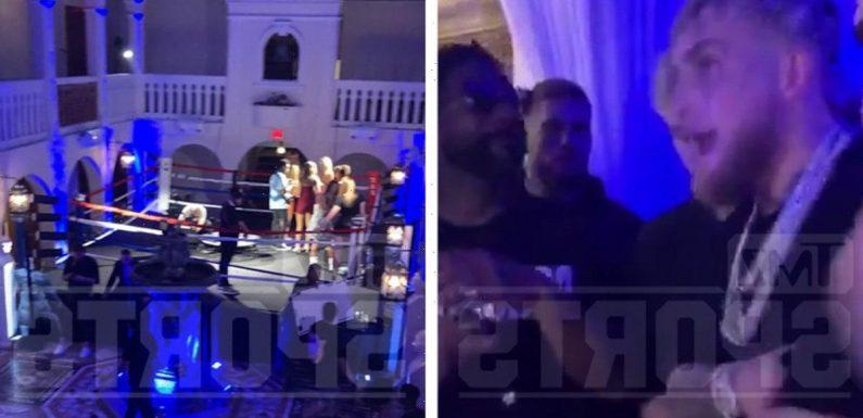 Jake Paul Hosts Versace Mansion Rager W/ Boxing Ring To Celebrate Ben Askren K.O.