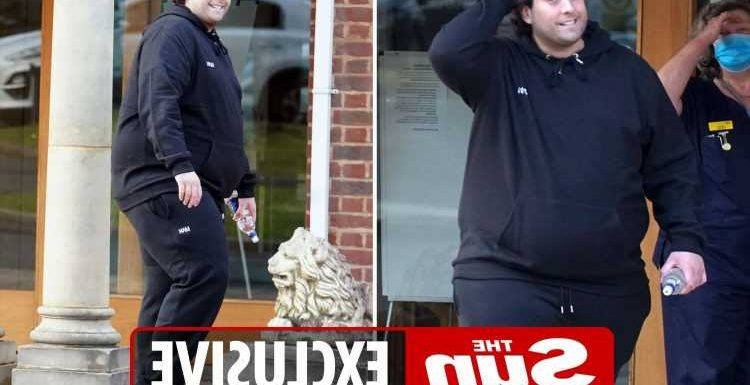 James 'Arg' Argent leaves hospital after having gastric surgery to save his life
