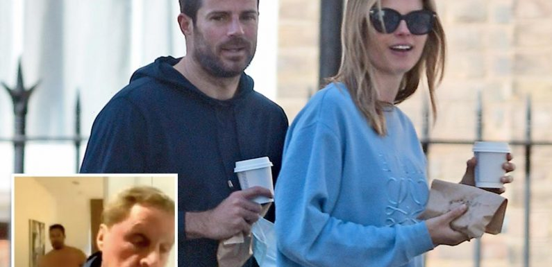 Jamie Redknapp and his girlfriend Frida Andersson Lourie grab coffee after his topless interview blunder