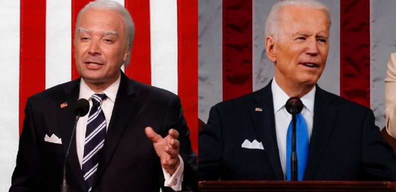 Jimmy Fallon's Joe Biden Address to Congress Is as Rambling and Random as You'd Expect (Video)