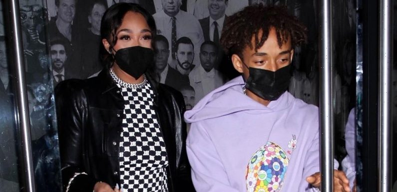 Jordyn Woods Rocks a Bold Jumpsuit as She Grabs Dinner with BFF Jaden Smith