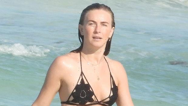 Julianne Hough Rocks A Tiny Black Bikini While Hitting The Beach In Tulum — Pics