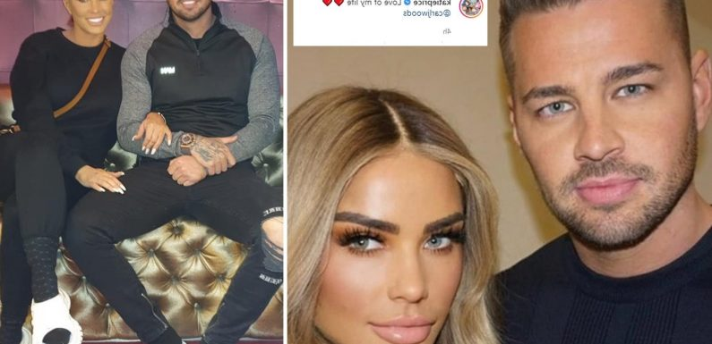 Katie Price calls Carl Woods 'the love of my life' after romantic proposal with 'eye-wateringly expensive' ring