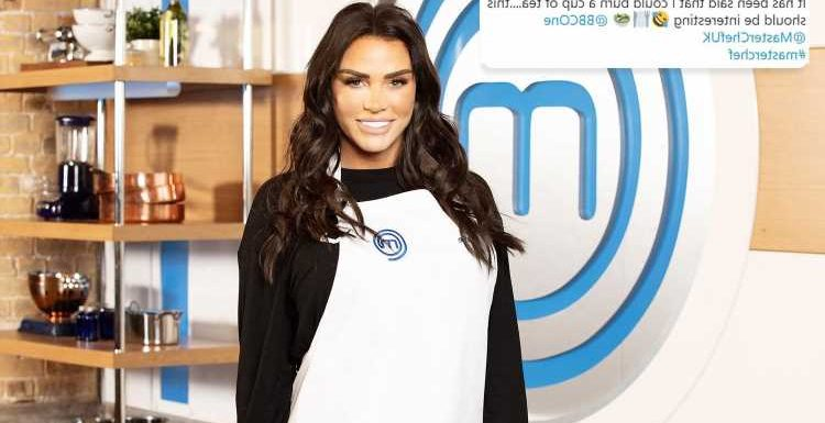 Katie Price jokes she can 'burn a cup of tea' after signing up to Celebrity MasterChef