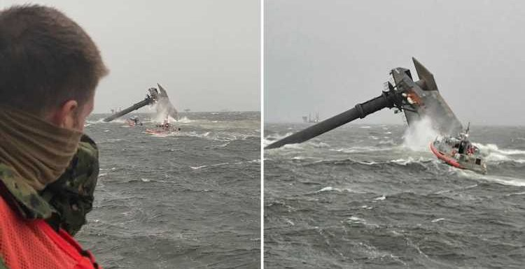 Louisiana capsizing – Coast Guard finds second crew member dead as 11 still missing after 129ft ship capsizes – The Sun