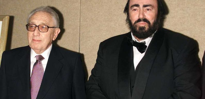 Luciano Pavarotti once swiped a steak off Henry Kissinger's plate