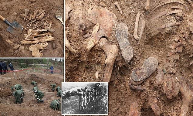 Mass grave of Nazi massacre victims is uncovered near Belarus village