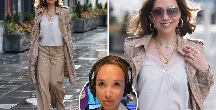 Myleene Klass left in tears after she's 'SPAT on by Uber driver' as she arrived to present radio show