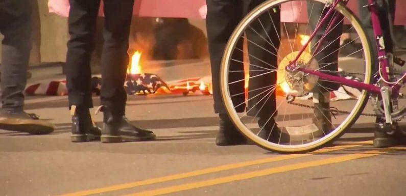 North Carolina police arrest 12 after American flag burned, stores vandalized in Daunte Wright protests